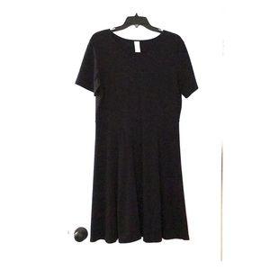 Black knit dress lands end size large